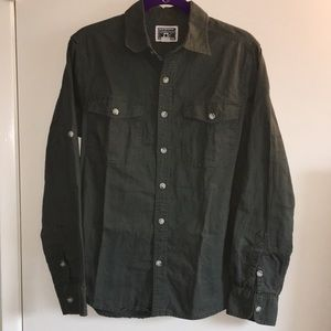 Converse Olive Green Button Down Shirt Small